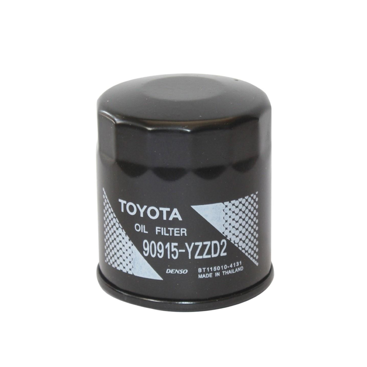TOYOTA 90915-YZZD2 Genuine Oil Filter For Land Cruiser Prado Camry Hiace Previa Lexus Black Buy Online at Best Prices