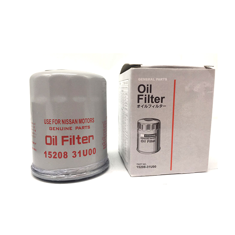 Full flow Nissan auto lube oil filtration spin on engine oil filter 15208-31U00